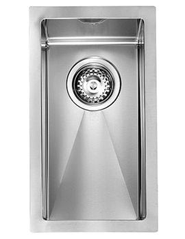 Crosswater Svelte 250 x 450mm Stainless Steel 1.0 Bowl Undermount Sink