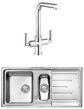 Crosswater Tropic Mixer Tap And Design 1.5 Bowl Inset Kitchen Sink Pack