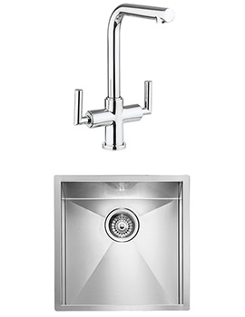 Crosswater Tropic Mixer Tap And Design 1.0 Bowl Undermount Kitchen Sink Pack