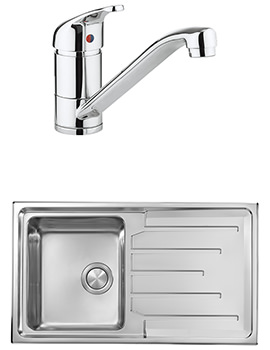 Crosswater Vital Mixer Tap And Design 1.0 Bowl Inset Kitchen Sink Pack