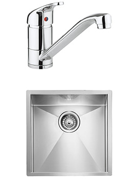 Crosswater Vital Mixer Tap And Design 1.0 Bowl Undermount Kitchen Sink Pack