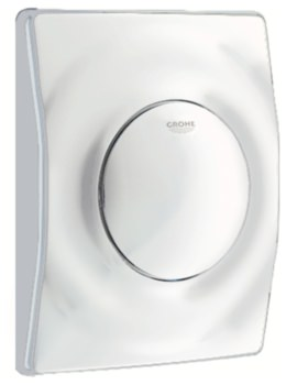 Grohe Surf Actuation Wall Mounted Flush Plate Alpine White