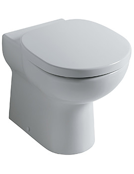 Ideal Standard Studio Back To Wall WC Pan With Horizontal Outlet