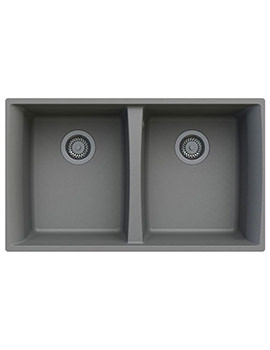 Astracast Woldside 810 x 480mm ROK Granite Graphite Grey 2B Undermount Sink