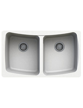 Astracast Malham 828 x 486mm ROK Granite Opal White 2B Undermount Sink