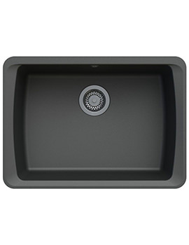 Astracast Barden 634 x 457mm ROK Granite Volcano Black 1B Undermount Sink