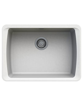 Astracast Barden 634 x 457mm ROK Granite Opal White 1B Undermount Sink