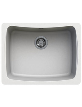 Astracast Malham 624 x 484mm ROK Granite Opal White 1B Undermount Sink