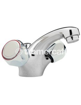 Tre Mercati Capri Single Flow Mono Basin Mixer With Pop-Up Waste-Without Heads