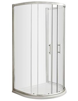 Nuie Premier Pacific D Shaped 1050 x 925mm Shower Enclosure
