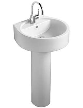 Ideal Standard White Round 500mm Basin 1Taphole