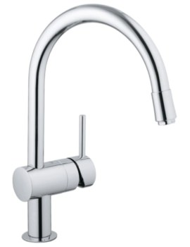 Grohe Minta Chrome Deck Mounted Kitchen Sink Mixer Tap