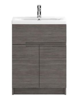 Hudson Reed Urban 600mm Grey Brown Avola Floor Standing Unit With Basin