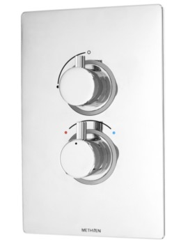 Methven Kaha Concealed Thermostatic Mixer Valve With ABS Plate