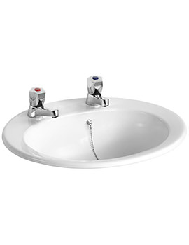 Armitage Shanks Sandringham 21 2 TH 500mm Countertop Basin With Chain Hole