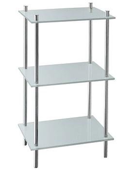 Smedbo Outline Polished Chrome Free Standing Shelf With 3 Shelves