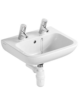 Armitage Shanks Portman 21 500mm 2 Taphole Washbasin With Overflow
