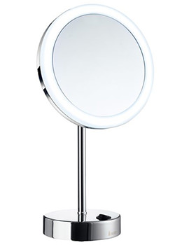 Smedbo Outline Free Standing Shaving And Make-Up Mirror With Light Chrome