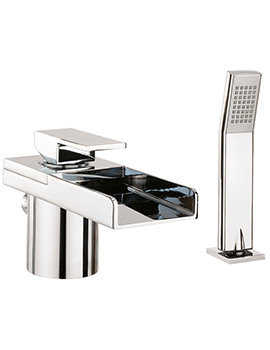 Crosswater Water Square Bath Shower Mixer Tap With Lights And Kit
