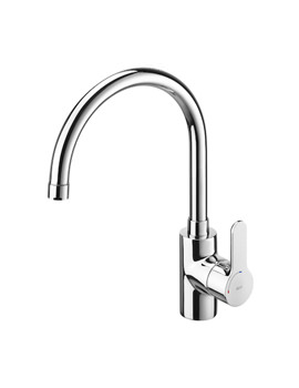 Roca L20 Kitchen Sink Mixer Tap With High Swivel Spout And Aerator