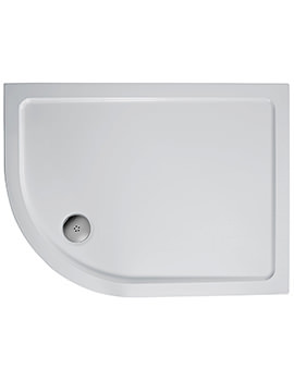 Ideal Standard Simplicity 1200 x 900mm RH Offset Quadrant Flat Top Tray
