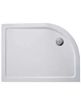 Ideal Standard Simplicity 1000 x 800mm RH Offset Quadrant Flat Top Tray