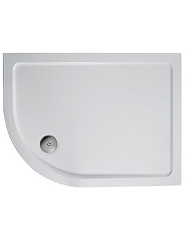 Ideal Standard Simplicity 900 x 800mm RH Offset Quadrant Flat Top Tray