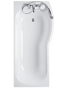 Ideal Standard Alto 170cm x 80cm Right Hand Shower Bath No TH