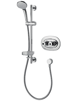 Ideal Standard Trevi Chrome Therm Built In Shower Valve With Shower Kit