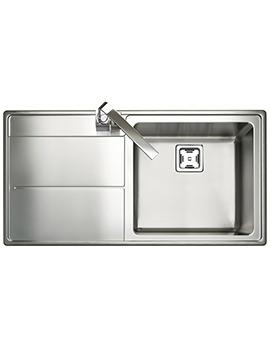 Rangemaster Arlington 985 x 508mm Stainless Steel 1.0B Inset Kitchen Sink