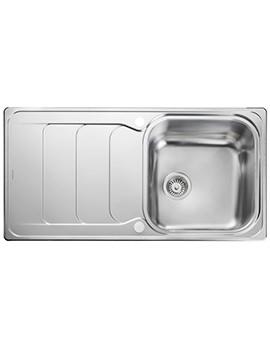 Rangemaster Houston 985 x 508mm Stainless Steel 1.0B Inset Kitchen Sink