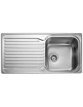 Rangemaster Sedona 985 x 508mm Stainless Steel 1.0B Inset Kitchen Sink