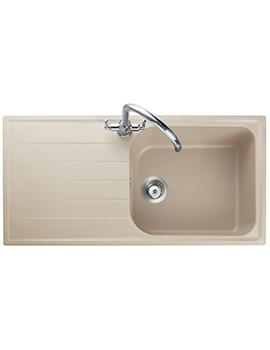 Rangemaster Amethyst 1000 x 500mm Igneous Granite Stone 1.0B Inset Sink