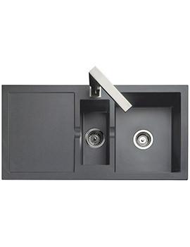 Rangemaster Cubix 985 x 508mm Neo-Rock Granite Grey 1.5B Inset Sink