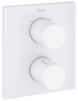 Grohe Grohtherm 3000 Cosmopolitan Thermostat With 2-Way Diverter Moon White