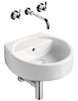 Ideal Standard White 40cm Round Hand Rinse Basin No Tap Hole