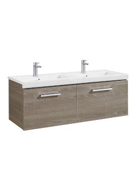 Roca Prisma Unik 1200 x 450mm Base Unit With Two Drawers And Basin