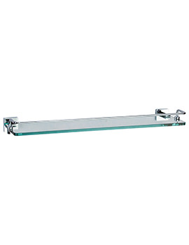 Crosswater Zeya 500mm Glass Shelf With Rail
