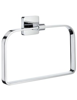 Smedbo Ice Polished Chrome Towel Ring