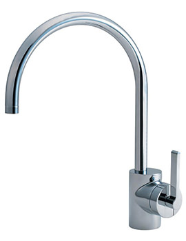 Armitage Shanks Silver Single Lever Kitchen Sink Mixer Tap