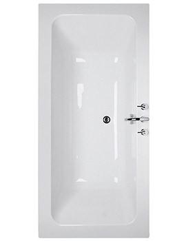 Ideal Standard White 170cm x 80cm Idealcast Bath No Tap Holes