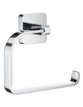 Smedbo Ice Wall Mounted Polished Chrome Toilet Roll Holder Without Lid