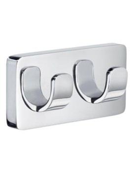 Smedbo Ice Double Hook - Polished Chrome