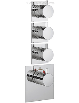 Crosswater Kai Lever Recessed Thermostatic 3 Control Portrait Shower Valve