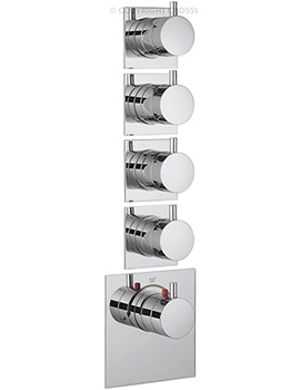 Crosswater Kai Lever Recessed Thermostatic 4 Control Portrait Shower Valve