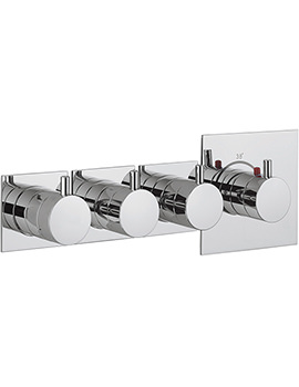 Crosswater Kai Lever Recessed Thermostatic 3 Control Landscape Shower Valve