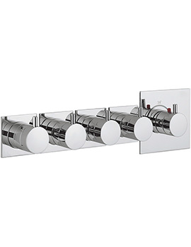 Crosswater Kai Lever Recessed Thermostatic 4 Control Landscape Shower Valve