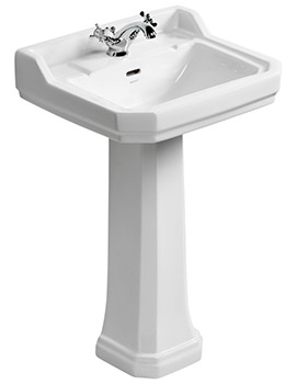 Ideal Standard Waverly 560mm 1 Taphole Basin And Pedestal