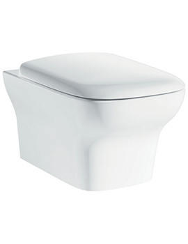 Pura Imex Grace Rimless Wall Hung WC Bowl And Slow Close Seat 500mm
