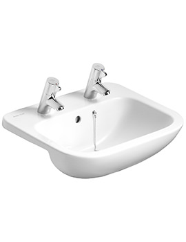 Armitage Shanks Profile 21 500mm 2TH Semi-Countertop Basin With Overflow